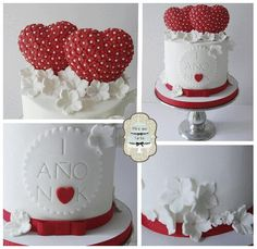 love, anniversary cake by #miraquetarta