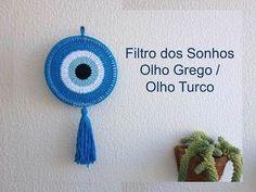 Filtro dos Sonhos Olho Grego / Olho Turco crochê - Professora Maria Rita - YouTube