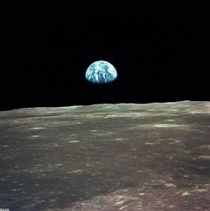 View of Earth from Apollo spacecraft  Linked from http://www.space.com/12669-45-apollo-moon-landing-photos-nasa.html