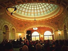 The Chicago Cultural Center has the largest Tiffany dome. They also have a great souvenir shop!