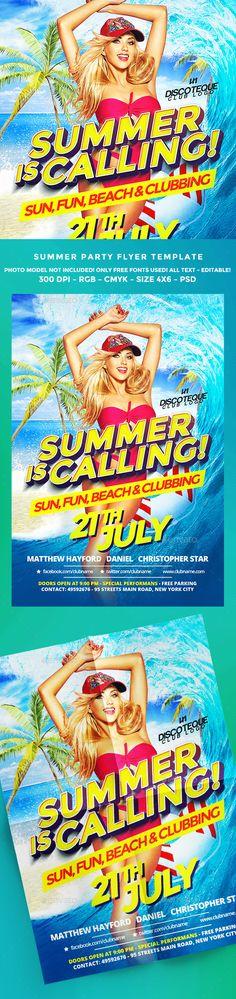 Summer Flyer Template PSD. Download here: https://graphicriver.net/item/summer-flyer/16978446?ref=ksioks