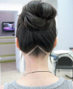 A simple, clean and very neat #undercut. #hair #haircut #hairstyle #girl #updo #shaved