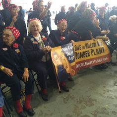 """On October 24, 2015, 2,091 women and girls dressed in dark blue work clothes and polka-dot bandannas gathered at the historic Willow Run Bomber Plant near Ypsilanti, Michigan to set a new World Record for """"The Most Rosie the Riveters."""" Here's the story ofhow and why they did it… Why Set a World Record? The …"""
