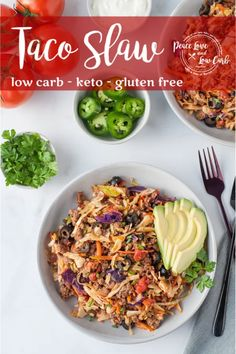 This warm keto taco slaw is the perfect new addition to your taco low carb Tuesday routine. Think egg roll in a bowl meets tacos. Delish!