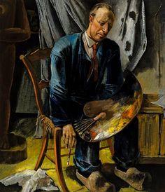 Zelfportret met schilderspalet, Hendrik Chabot, 1939 | Museum Boijmans Van Beuningen