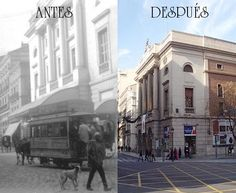 Theater Main (before and after).  Teatro Principal (antes y después).  http://www.valenciabusturistic.com/