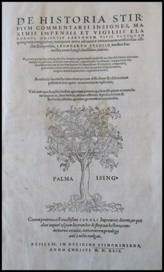 Botanical Book Typography