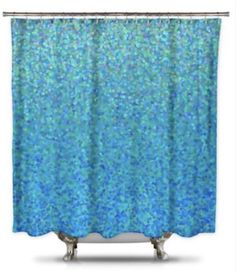 Blue Raspberry Fabric Shower Curtain By Catherine Holcombe Modern Curtains