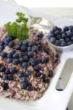 risotto ai mirtilli {blueberry risotto} - creamy, fruity and delicious!