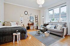 Home - Room & Bedrooms Decor Ideas Home, House Rooms, Studio Living, Small Apartments, Studio Apartment Decorating, Bedroom Decor, Small Room Design, Dream Decor, Apartment Decor