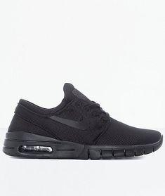 d59ae77b30 New Nike SB Janoski Air Max All Black Skate Shoes Boy's Sz 5Y #fashion #