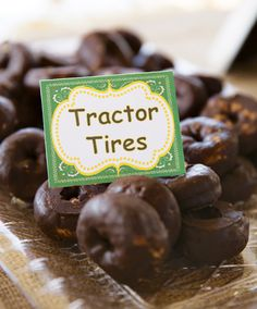 "Cute ideas - love the ""tractor tires"" and ""hay bales"" but would have to do it in Cat yellow and black"