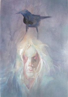 "Here's some more of Bill Sienkiewicz's incredible illustrations of The Endless from Neil Gaiman's ""The Sandman"" series."