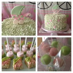 Ruffle Cake, Rice Krispies, Marshmallow Pops And Cake Pops By Sweet Cheers  Pastels Baby