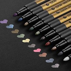 a040f64a4953b I love sparkly markers Metallic Markers Paints Pens - Medium Fine Point  Metal Art Painting Markers For Gift Card Making, DIY Photo Album,  Scrapbooking, ...