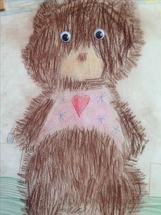 Mijn beer getekend door groep 3