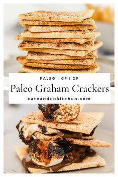 These paleo graham crackers are dairy  free, gluten free, and grain free. They are perfectly crunchy and a  delicious healthy snack! A healthy version of the classic graham cracker  that are ridiculously easy to make.