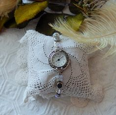 NWOT OOAK Silver Plated Crystal Beaded Adjustable by bijoullery