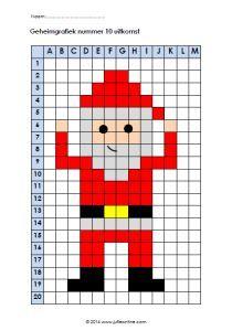 Secret graph Santa. Nice for middle and upper school.  Geheimgrafiek Kerstman. Leuk voor midden- en bovenbouw.   Secret graph Santa. Nice for middle and upper school.   #graph #middle #nice #Santa #School #Secret #Upper