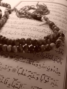The Holy Quran and tesbih