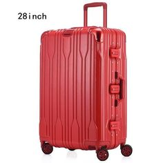Color : Black, Size : 20 inch Expandable Spinner Trolley Case Fashion Luggage Suitcase 20 Inchs//24 Inches//28 Inches Universal Wheel