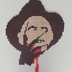 Freddy Krueger  perler beads by Dissected Pixels