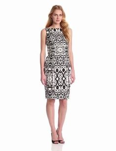 Jones New York Women's Sleeveless Printed Dress :$98.00 & FREE Shipping.
