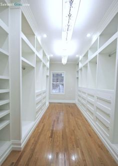@Sandra Powell 's master closet is the perfect example for showing the right amount of lighting. Remember that ample lighting is important in the master closet!