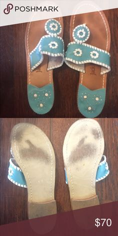 Jack Rodgers blue sandals Light blue Jack Rodgers in great condition. Only used twice! Jack Rogers Shoes Sandals