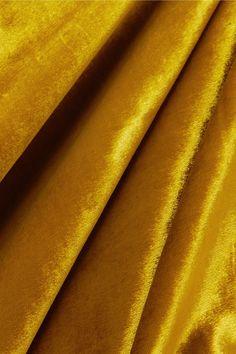 Gold Florence ruffled velvet midi dress   Mother of Pearl   NET-A-PORTER Leigh Miller, Velvet Midi Dress, Mother Pearl, Look Cool, Black Satin, Florence, Colours, Pearls, Gold