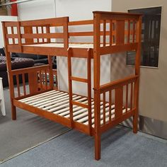 Show details for Holly King Single Bunk Bed Solid Hardwood Antique Oak Malaysian Made King Single Bunk Beds, Holly King, Oak Color, Mattress Springs, Beds Online, Bed Frame, Glamping, Master Bedroom