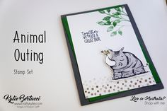 Kylie Bertucci - Crazy Crafters Hop with Martha Groeger. I used the brand new Animal Outing stamps et along with the Petal Palette Stamp set. #stampinup #cardmaking #handmadecard #rubberstamps #stamping #kyliebertucci