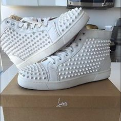 Christian Louboutin Mens Christian Louboutin Mens Louis Flat Calf/Spikes 42 ( PayPal only : Text me for details (650) 451-7496 ) Christian Louboutin Shoes