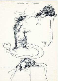Mirko Hanák & Charlotte's Web Types Of Art, Animal Drawings, Rats, Pet Birds, Illustrators, Illustration Art, Sketches, Blog, Artwork