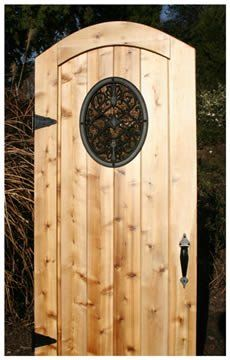 Oval Wooden Gate Decorative Accessory  I Love The Look
