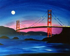 """MOON OVER GOLDEN GATE BRIDGE"" 