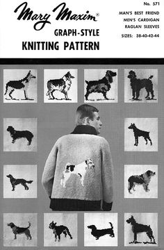 Use our vintage pattern to knit this cardigan.