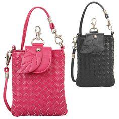PHB2839 D Ivy cross-stitch weave cellphone holder pouch - Wholesale Handbags, wholesale fashion