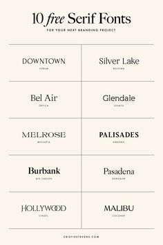 10 FREE serif fonts for your next branding and design project Typeface Font, Typography Logo, Typography Design, Free Typeface, Typography Served, Font Logo, Design Logos, Logo Type, Brand Identity Design