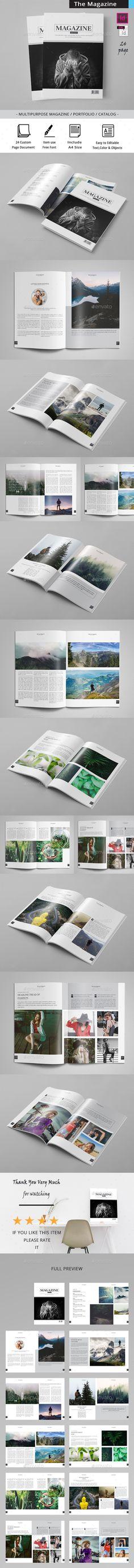 Minimal Magazine Template - #Magazines Print #Templates Download here: https://graphicriver.net/item/minimal-magazine-template/19725662?ref=alena994