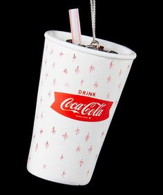 Love this Retro Coca-Cola Cup Ornament on #zulily! #zulilyfinds