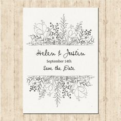 Free vector hand drawn wedding invitation - Weddings - Dresses, Engagement Rings, and Ideas! Invitation Floral, Invitation Design, Invitation Cards, Invitation Envelopes, Invitation Wording, Invitation Templates, Photo Wedding Invitations, Wedding Stationery, Illustrated Wedding Invitations