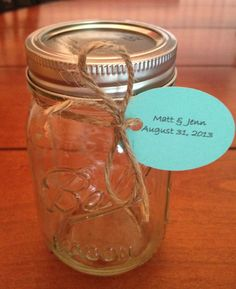 Mason Jars - wedding favor