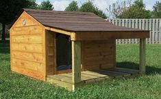 DIY dog house with shade porch plans. Description from pinterest.com. I searched for this on bing.com/images Xl Dog House, Double Dog House, Large Dog House Plans, Dog House With Porch, Extra Large Dog House, Pallet Dog House, Small Dog House, Build A Dog House, Porch House Plans