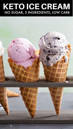 Keto Friendly Ice Cream, Best Homemade Ice Cream, Low Carb Ice Cream, Sugar Free Chocolate Chips, No Churn Ice Cream, Low Carb Sweets, Frozen Desserts, Ice Cream Recipes, Frozen Yogurt