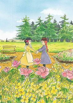Akage no Anne background Anne With An E, Anne Shirley, Manga Illustration, Background Vintage, Retro Aesthetic, Anime Art Girl, Studio Ghibli, Backgrounds, Animation