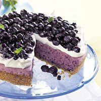 No-Bake Blueberry Cheesecake with Graham Cracker Crust by SELF
