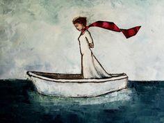 Girl in a Boat  sold  © 2012 Jennifer Yoswa