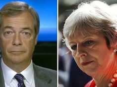 """NIGEL FARAGE delivered a blistering rant against Prime Minister Theresa May during an on-air interview this afternoon, following his announcement of his return to frontline politics, as he claimed Mrs May does not believe Britain is """"good enough to run its own affairs"""". May Video, Mrs May, Nigel Farage, Theresa May, Not Good Enough, Prime Minister, Announcement, Affair, Britain"""