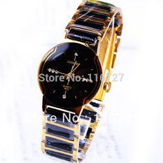 f2479e4aeab1 Comprar Relojes de pulsera de regalo de lujo con diamantes de imitación de  cerámica con reloj comercial exquisito de cuarzo para mujer marca LongBo de  ...